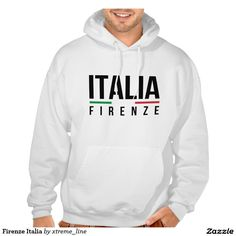 Firenze Italia Hooded Sweatshirt. Italian Clothing & Apparel.