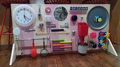 Busy Board, Activity Board, Large Toddler Busy Board, Fine Motor Board, Educational Toy, Sensory Board, Latch Board, Engineering Board