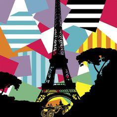 Paris by Lobo Pop Art