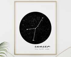 Modern Minimalist Colorful Printable by KitchenSinkPrintShop Wall Art Sets, Large Wall Art, Wall Art Prints, Vegetable Prints, White Wall Decor, Zodiac Constellations, Scandinavian Art, Simple Lines, Decorating On A Budget