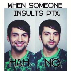 When someone insults PTX with Mitch Grassi