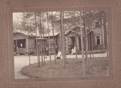 A log-built hotel 1890's