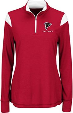 NFL Atlanta Falcons Women's Inspired Intensity Long Sleeve Mock Neck 1/4 Zip Top - http://our-shopping-store.com/apparel-and-accessories.asp