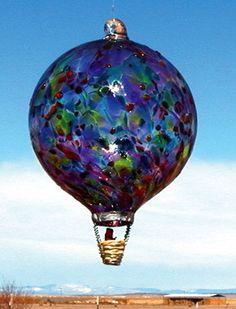 Hand Blown Glass Hot Air Balloons