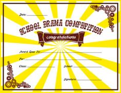 School drama competition award certificate template for ms word school drama competition award certificate template for ms word download at httpcertificatesinnschool drama competition award certificates yelopaper Gallery