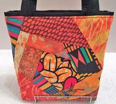 Fabric Gift Bag Keepsake Bag African Patchwork