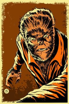 This listing is for an 11x17 Wolf Man poster illustrated by Mark Welser.