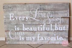 DIY home decor, plank art #love
