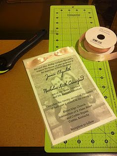 Hand Made Vellum Overlay Wedding Invitations - Can Easily be Customized!