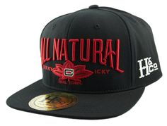 H&CO Collection. All Natural Adjustable Snapback Caps made from 100% Cotton in Black. Undervisor in Black. Embroidery in Red and White. Made for those laid back days. Chill with one of these hats.