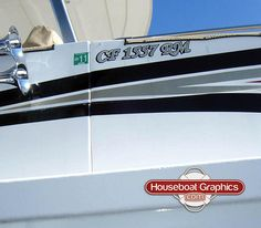 Homeawayfromhome Jolly Frog Check Out These Custom Houseboats - Houseboats vinyl logos