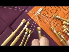Encaje de Bolillos. Esconder hilos en hoja de guipur - YouTube