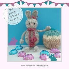 A Free Knitting Pattern - Knitted Easter Bunny