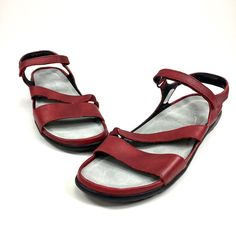 f802c3982d16 Women s Naot Red Leather Ankle Strap Open Toe Comfort Sandals Shoes Sz 39    8 US  fashion  clothing  shoes  accessories  womensshoes  sandals (ebay  link)
