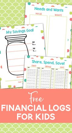 Free Financial Literacy Printables - Teaching Kids How to Manage Money