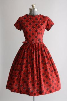 Vintage 1950s Dress / Mode O Day / by TuesdayRoseVintage
