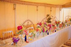 Marquee linings are a great way to add colour © Oasis Events