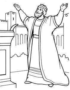 Solomon Asks for Wisdom coloring page  SuperColoringcom  Clip
