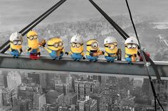 Despicable Me - Minions Lunch On A Skyscraper - Official Poster