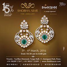 #SaveTheDate #Pune  Visit us at Vivanta - Taj Blue Diamond, Tango Hall, 11, Koregaon, Pune. Between 5th – 6th March and get up to 15% off on all Jewellery