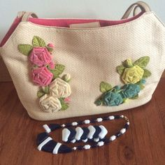 Spotted while shopping on Poshmark: Floral FOSSIL straw bagbundled for vavascloset! #poshmark #fashion #shopping #style #Fossil #Handbags