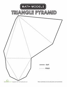 triangular prism layout fold design pinterest triangular prism math and worksheets. Black Bedroom Furniture Sets. Home Design Ideas