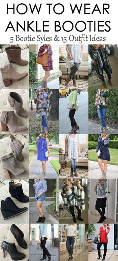 How+to+Wear+Ankle+Booties+Graphic+-+15+outfits.jpg 490×1,084 pixels