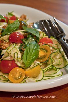 #SANE Zucchini and Cherry Tomato Salad  |  www.carriebrown.com  |  www.sanesolution.com