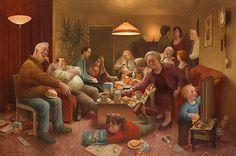 Marius van Dokkum, Dutch Artist and Illustrator Art And Illustration, Illustrations, Artist Painting, Figure Painting, Dutch Painters, Gif Animé, Dutch Artists, Cartoon Art Styles, Contemporary Artists