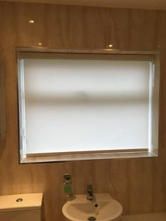 Roller blinds for the bathroom, Warrington.  http://blindswarrington.co.uk