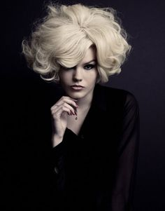 Curly short blonde# hair for #hairdressing inspiration visit www.ukhairdressers.com