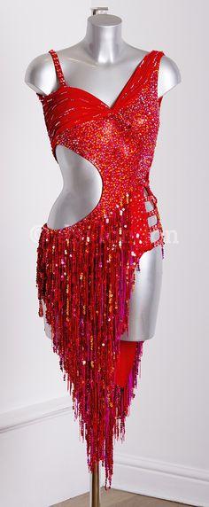 DSI 328239 Flamenco fiery red fringe