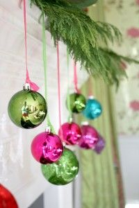 Hang Ornaments from the Mantel