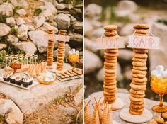 cookie tower! perfect for a camp themed dessert table