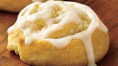 A little bit sweet, a little bit chewy, the easy spirals are made with crescent dinner rolls and a sweet-tart cream-cheese and coconut filling.