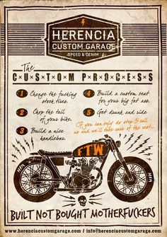 How to build a custom bike by Herencia Custom Garage based out of El Salvador. Like us on Facebook