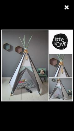 Teepee Tipi Wigwam Tent Kids teepee tents Zelt by renomad on Etsy Kids Play Teepee, Diy Teepee, Kids Tents, Ideas Habitaciones, Blog Deco, Kids Corner, Diy Arts And Crafts, Toddler Toys, Diy For Kids