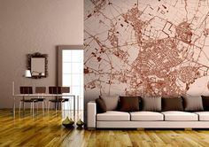 Looking for something to decorate the walls with? Check out these awesome custom map wall murals by Wallpapered!