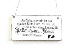 Buchstaben & Schriftzüge - Dekoschild BLIND DATE Holzschild Shabby Vintage - ein Designerstück von DOERPKIND bei DaWanda