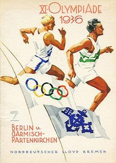 1936 Olympics Poster Flyer Goodness: Vintage German Ads by Ludwig Hohlwein Berlin 1936 Olympics, Berlin Olympics, Summer Olympics, Poster Ads, Advertising Poster, Ww2 Posters, Event Posters, Vintage Advertisements, Vintage Ads