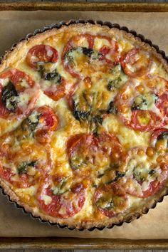 Gluten Free Tomato Tart with Rich Savory Pie Crust - Gluten-Free on a Shoestring