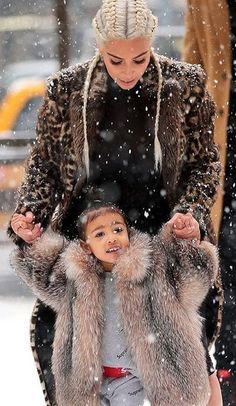 Kim & North West