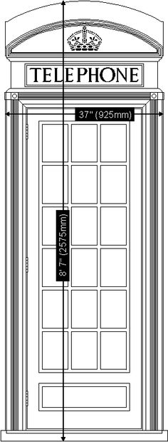 dimensions of the English phone booth