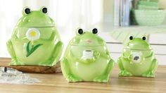 Frog Canisters    I love these!!!
