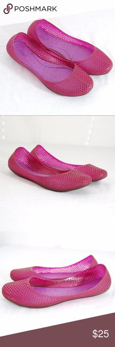 Grendha Ballet Flat Jellies Adorable pink jellies. Worn twice. Great condition.  Cute with jeans and a perfect pop of color for any outfit. Grendha Shoes Flats & Loafers #JellyShoesFlats