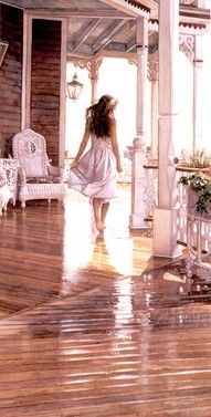 Steve Hanks - Sunshine After the Rain - ANNIVERSARY EDITION CANVAS from the Greenwich Workshop Fine Art Gallery featuring fine art prints, canvases, books, porcelains and gift ideas. Paintings I Love, Beautiful Paintings, Art Paintings, Watercolor Artists, Watercolor Paintings, Watercolors, Academic Drawing, Oeuvre D'art, Painting & Drawing