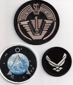 Found these a few weeks ago... Definitely getting a set of my own!! --- Stargate SG-1 TV SERIES Uniform/Costume Patch Set of 3 on Etsy
