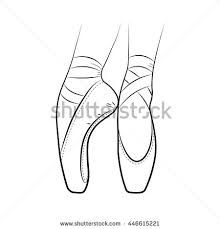 Image Result For Pointe Shoe Coloring Page Drawing Themes Pointe Shoes Simple Image