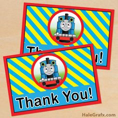 thomas train thank you FREE Printable Thomas the Tank Engine Thank You Card