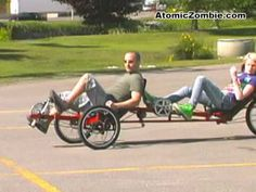 AtomicZombie - The Viking Recumbent Tandem Tadpole Trike